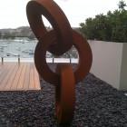 bronze steel sculpture