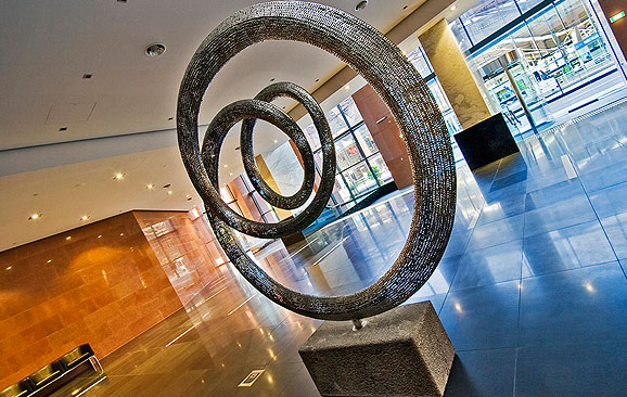 Time Tunnel - Stainless Steel Contemporary Sculpture at Sculptura