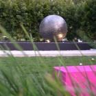 Sphere in pool