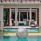 Stainless steel Sphere in pool