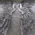 angel wings steel sculpture at sculptura