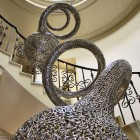 spiral stainless steel sculpture
