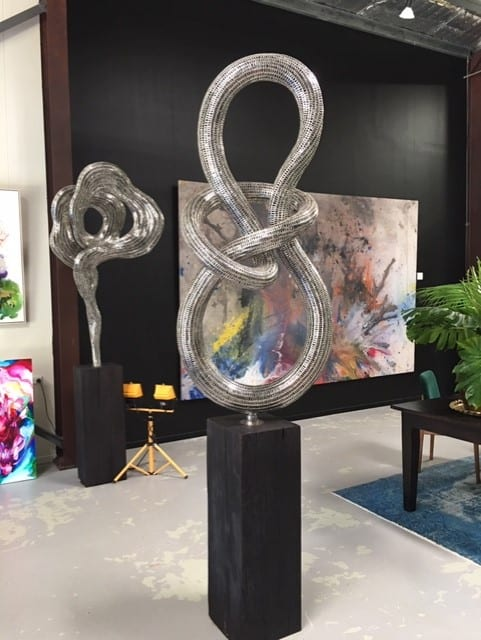 glimmer steel sculpture from sculptura gallery