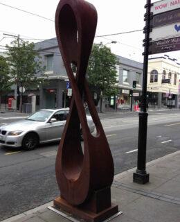 Infinity iv - Corten steel sculpture