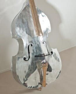 Aluminium Violon sculpture