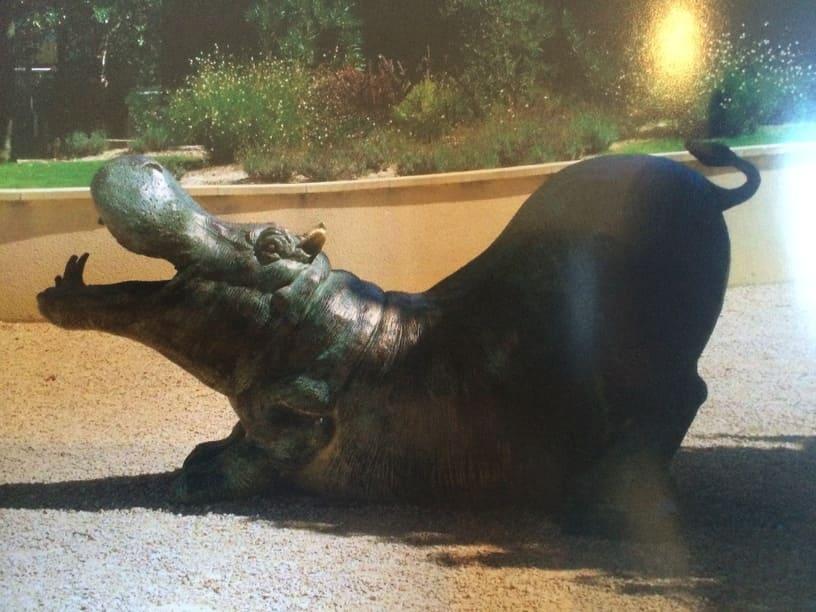 Bronze Hippo Sculpture