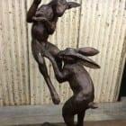 Under the moonlight - bronze sculpture at Sculptura