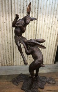 Under the moonlight - bronze sculpture at Sculptura