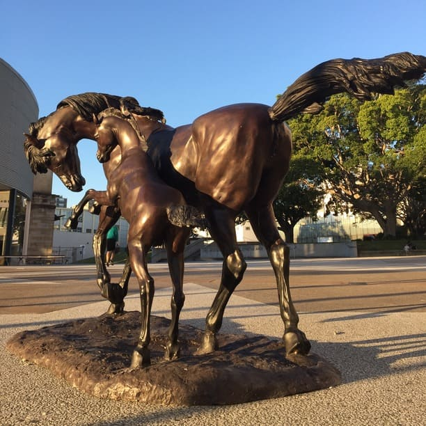 Metal Garden Sculpture Sculptura, Horse Garden Statues Australia