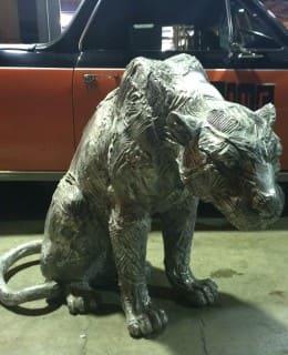 Aluminium Sculpture Sculptura Panther