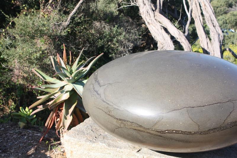 Ellipsoid stone sculpture