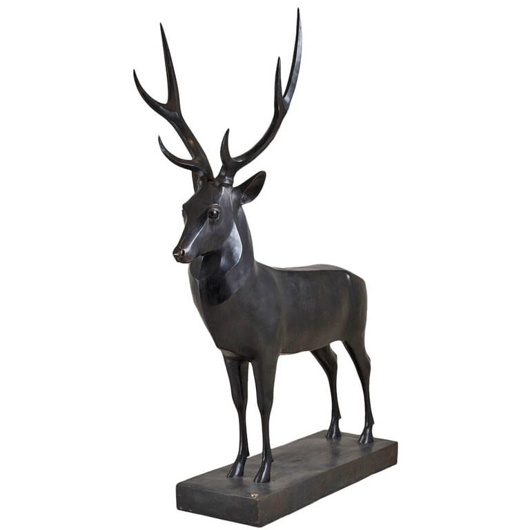 Art Deco Steer Sculpture - Sculptura