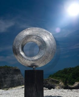 Rising Sun - Stainless steel sculpture