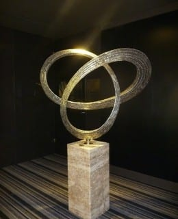 Trilogy stainless steel sculpture