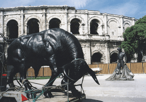 bronze sculpture Le Taureau de Christian Maas
