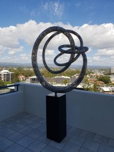 Grace steel sculpture by Lachlan Ross