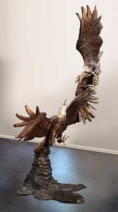 Bronze Statue Eagles