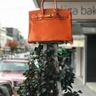 Orange Birkin Bag sculpture