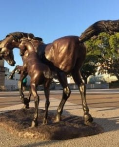 Mare & Foal - Sculptures by Sculptura