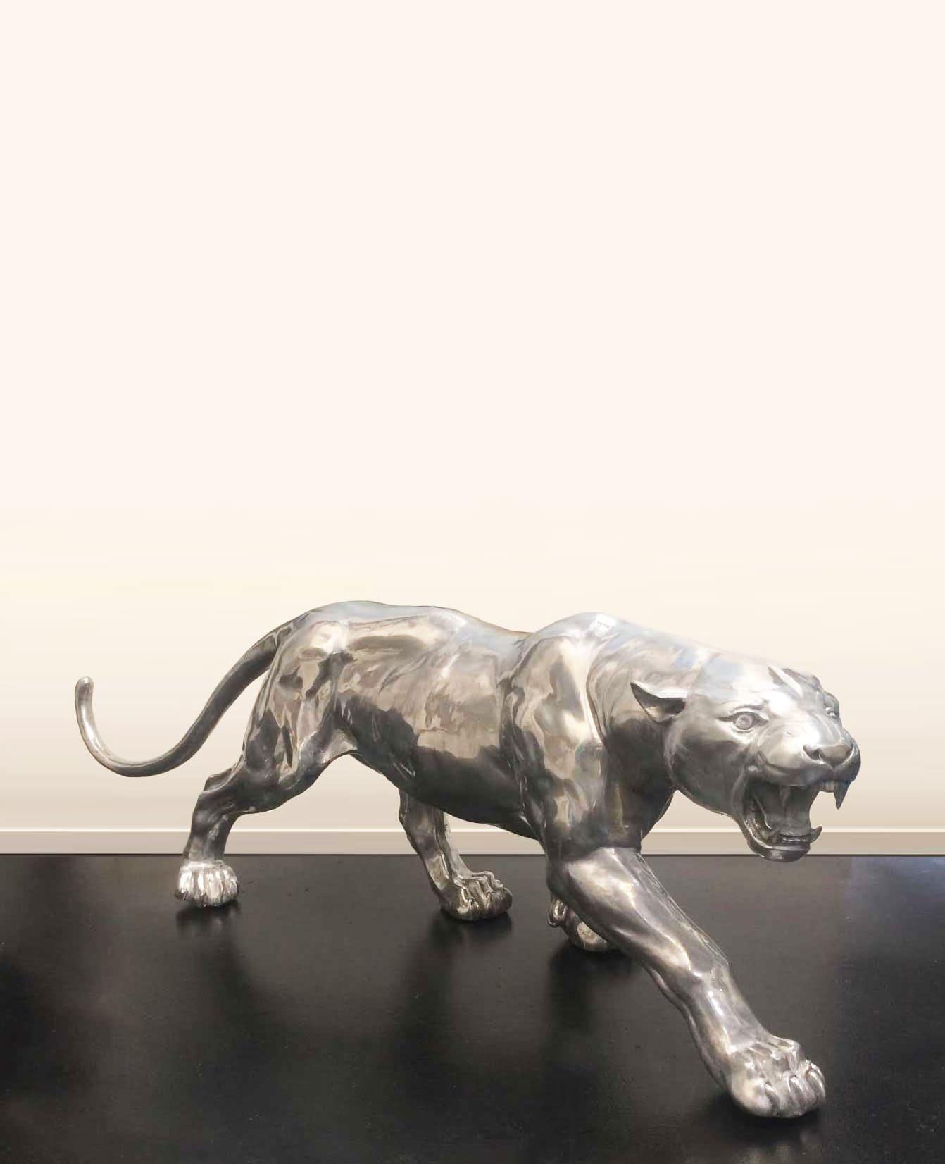 Aggressive Panther Sculpture - Sculptura 1