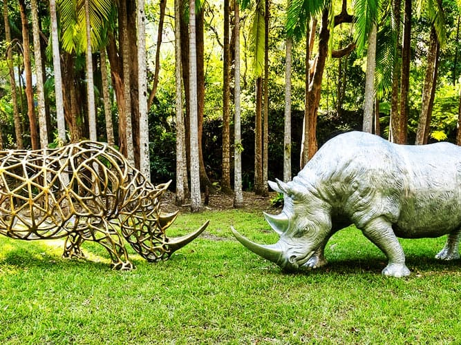 Rhino sculptures