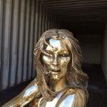 Sculptura - fashion sculpture bronze - Kate Moss
