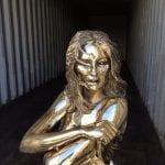 Sculptura - fashion sculpture bronze - Kate Moss-A1